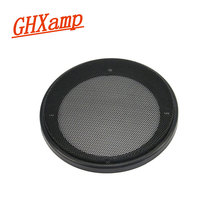 GHXAPM 2PCS 5 inch Round Speaker grill mesh Speaker Net Cover dedicated Mesh enclosure iron grilles frame ABS plastic