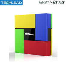 T95K Pro 3GB 32GB Smart TV Box Android 7.1 dualband 2.4G/5G WIFI media player S912 octa core BT HD 4K MINI pc Network Airplay