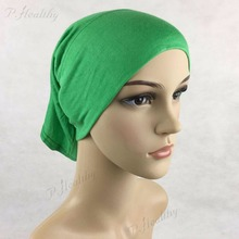 Cover Inner Muslim jersey Hijab Cap Islamic Head Wear Hat Underscarf ,10cm front tube caps,Can choose Colors PH070(China)