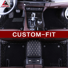 Custom made car floor mats for Hyundai Genesis Coupe Rohens BH330 high quality Luxury 3D car styling all weather carpet rugs(China)