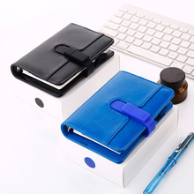 Pure Color Loose Leaf Notebook With 16G USB Flash Disk 10.8*15cm Business Journal 80 Sheets Free Shipping