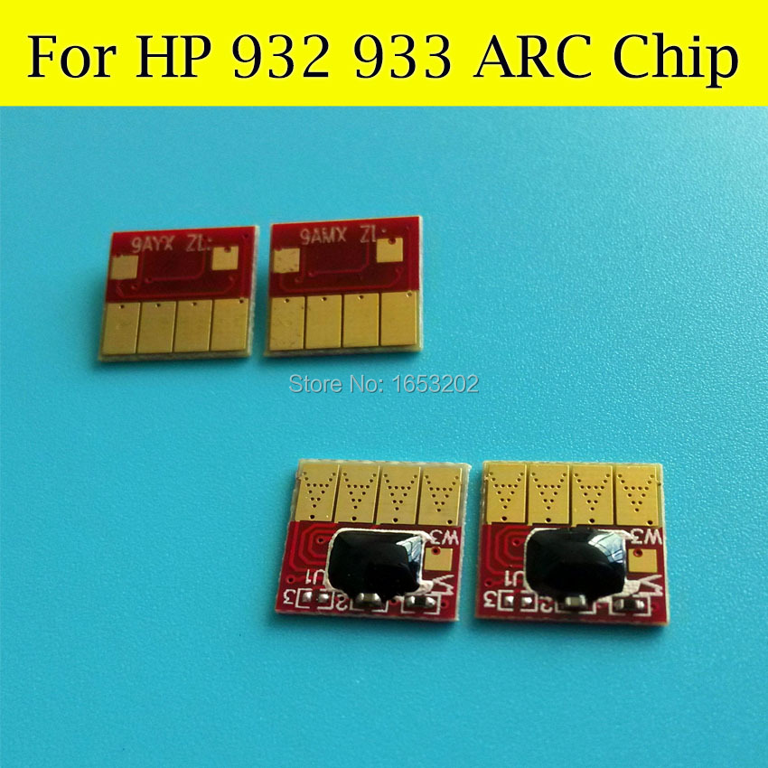 4 Pieces/Lot Cartridge Chip For HP 932 933 Show Ink Level Cartridge For HP Officejet 7512 7510 6700 7110 7610 7612<br><br>Aliexpress