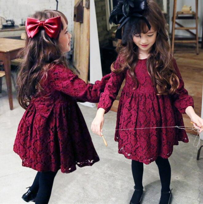 New Autumn Baby Girl Dress Casual Long Sleeve Tutu Vestido De Festa Infantil Princesa Children Dresses Princess Costume<br><br>Aliexpress