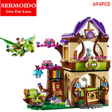 SERMOIDO Elves Secret Place Parenting Activity Education Model Building Blocks Girls And Children'S Toys Compatible Lepin B267