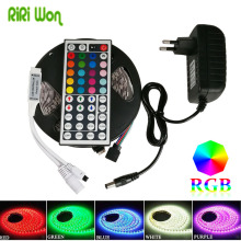RiRi won SMD RGB LED Strip Light waterproof 5050 60leds/m leds tape diode ribbon flexible DC 12V 5m 10m power adapter set