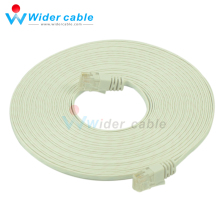 10m Passed Rohs CAT 6 Network Cable High Quality Flat Cat6 Computer UTP Cable For Router White Color 1.1mm thickness