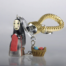 Anime Miyazaki Hayao Spirited Away facelessKaonashi No Face Figure Keychain Cell Phone Straps Figure Pendatnt For Car Key Rings