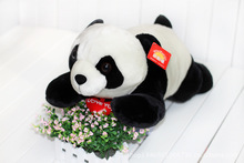 large 55cm prone panda plush toy soft cushion pillow , Valentine's Day, birthday gift w5455(China)