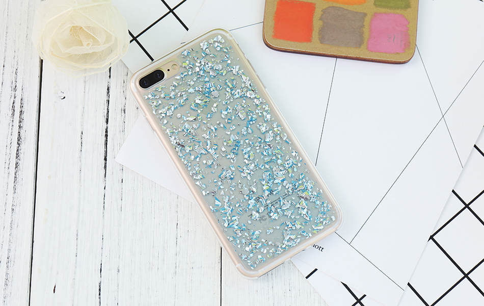 DOEES For iPhone 7 6 6S Plus 5 5S SE Case Luxury Cute Glitter Clear Case For Samsung Galaxy S8 Plus S7 S6 Edge S5 Note 7 5 Back Cover (3)