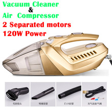 (Cleaning + Inflating + Tire Pressure Gauge + Lighting) 4 In 1 Multifunctional 120W Car Vacuum Cleaner and Car Air Compressor