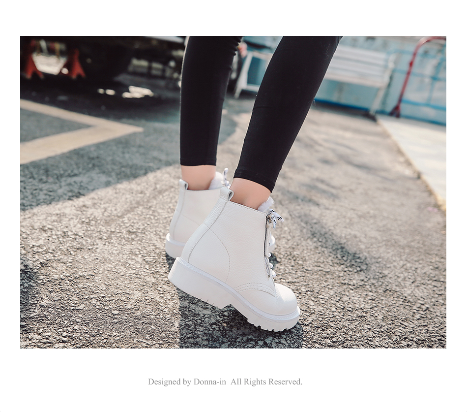 Donna-in Winter Martin Boots Women Platform Ankle Boots Heels White Motorcycle Punk Booties Fur Lace Up Snow Shoes for Ladies (8)