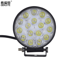 2pcs 48W LED Work Light Waterproof Round Offroad Boat Truck Tractor LED light Driving Light Flood Beam spotlight Car Headlight(China)