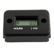 Mini Inductive Digital Hour Meter Waterproof LCD Display  for Bike Motorcycle ATV Snowmobile Marine Boat Ski Dirt Gas Engine