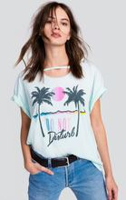 Women s T-shirts 2017 Latest Fashion Design Beautiful Coconut Palm Tree Sun Letters Printed T-shirts Summer Wear Casual T-shirts