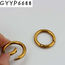 30pcs Inside 25mm Old gold  Snap Clip Trigger Spring Ring for Making Purse Bag Handbag Handle Connector