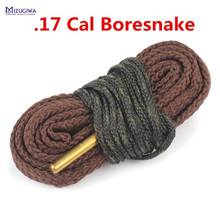 2 pcs MIZUGIWA Bore Snake Cleaning .17HMR .17 CAL Calibre .177 Rifle Barrel Boresnake Cleaner Pistol Cleaning Brush Hunting