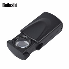 Beileshi New Magnifying Glass With Led Lights 30X Magnification Loupes Jewelry Appraisal Magnifier MG21008