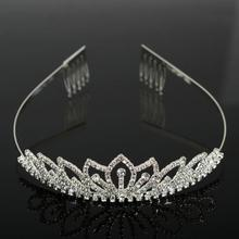 4Pcs Austrian Crystal Wedding Crown Headband Tiara Hairband Crystal Crown Hairbands Tiara Head Jewelry Wedding Accessories Women