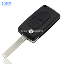 Dandkey Replacement 3 Buttons Flip Folding Entry Key Fob Shell Case 3 Buttons for CITROEN C2 C3 C4 C5 C6 C8 Free shipping
