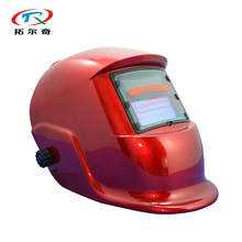 Free Shipping Red Solar Lithium Cell Auto Darkening Welding Helmet German type custom welding Cap Mask Grinding TRQ-HS03(2233FF)