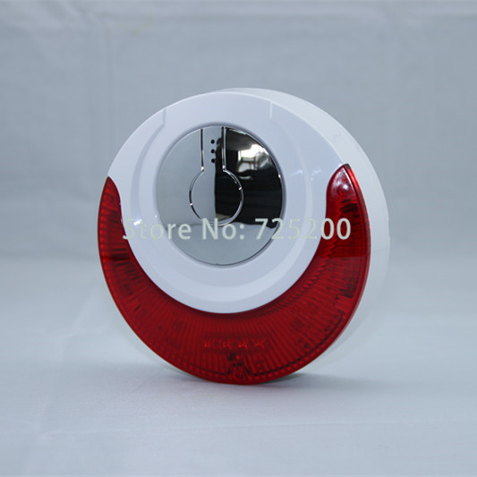 MD-214R Wireless Indoor Sound And Light Flash Siren Strobe Horn w Backup Battery, 868MHZ, Free Shipping<br>
