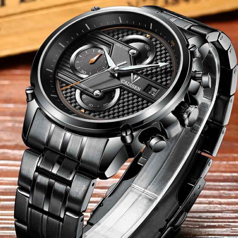 CADISEN Watch Men Quartz-Watch Luxury Brand Mens Watch Waterproof Clock Men Wrist watches Relogio Masculino Fashion reloj hombr<br>