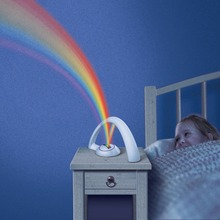 Lucky Led Rainbow Projector Light Night Lamp For Bedroom Gift For Lovers And Children Kids Birthday Present