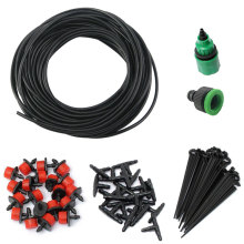 15m Hose Micro Drip Irrigation Garden Watering System DIY Automatic Watering Kits Irrigation Systems 20 Adjustable Dripper