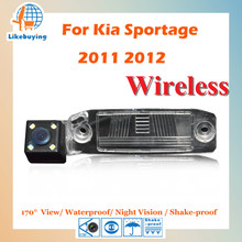 Wireless Parking Camera / 1/4 Color CCD Rear View Camera For Kia sportage 2011 2012 Night Vision / 170 degree / Waterproof