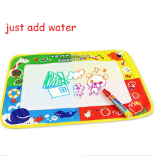 46x30cm 4 color Water Drawing Toys Mat Aquadoodle Mat&1 Magic Pen/Water Drawing board/baby play mat(China)