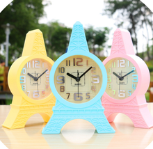 Creative Cute Guitar Flower Alarm Clocks Lazy Poeple Digital Alarm Clocks Simple Table Desk Bedroom Alarm Clocks