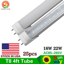 CE ROHS FCC 4ft 1.2m T8 G13 Led Tube 18W 22W Warm/Natraul/Cool White Led Fluorescent Lamp AC 85-265V Transparent/Frosted Cover(China)