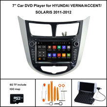 Android 7.1 Quad Core CAR DVD Player for HYUNDAI VERNA SOLARIS ACCENT 2010-2012 1024X600 SCREEN WIFI/3G+DSP+RDS+16GB flash(China)
