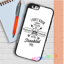 Fall Out Boy Lyric fashion case for iphone 4 4s 5 5s SE 5c 6 6S 6 plus 6S plus 7 7 plus #uk255