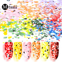 Mtssii Nail Paillette Irregular Flakes Decoration Marble Powder Frosting Dust Nail Sequin Sugar Sand DIY Nail Art Decor Manicure(China)
