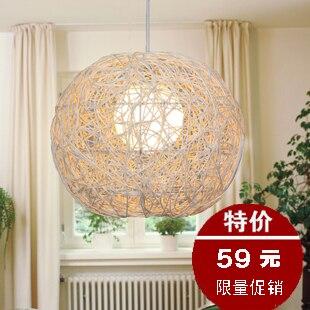 Modern natural rattan pendant light living room lights bedroom lamp balcony lighting rustic study light<br><br>Aliexpress