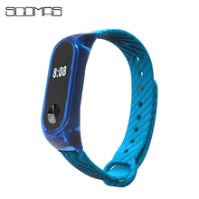 Buy SCOMAS Crystal Frame Straps Xiaomi Miband 2 Carbon Fiber Replace Belt Mi Band 2 Wrist Strap Wearable Smart Accessories for $3.19 in AliExpress store