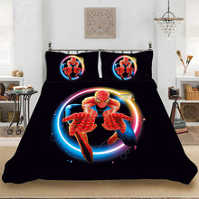 Marvel HD 3D Print Superhero Spiderman Bedding set Bedclothes Include Duvet Cover Pillowcase Print Home Textile Bed Linens(China)