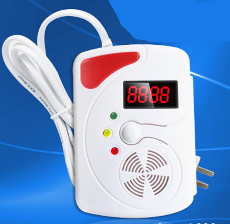 433Mhz/315mhz Wireless Gas Alarm  Detector For Burglar Alarm System <br>