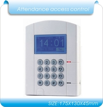 lithium battery  blue LCD U-disk download data  RFID Time Attendance, time clock & access control system employee time clock