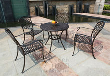 5-piece Best-selling cast aluminum table and chair Outdoor furniture elegant and fashion for villa(China)