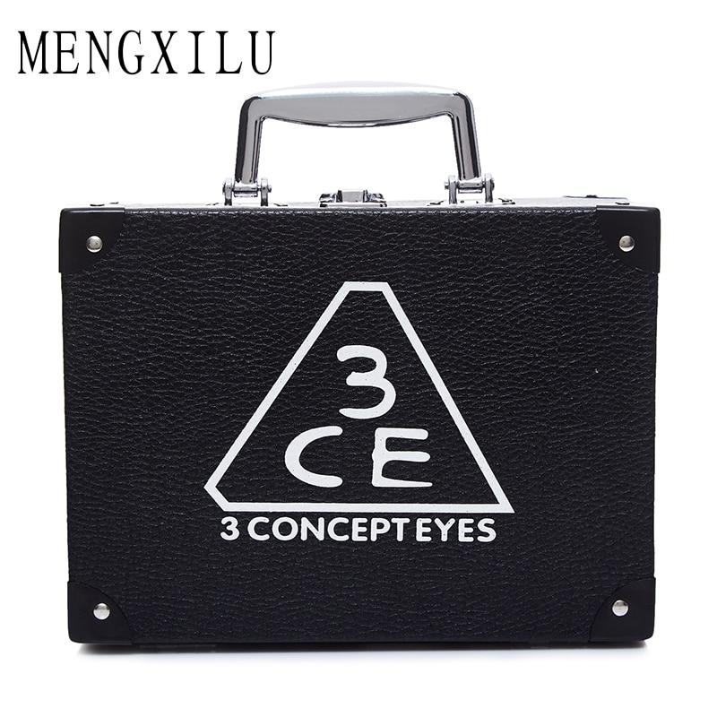 MENGXILU Elegant 2Pcs/Set Women Cosmetic Case Fashion Cosmetic Bags Box Makeup Bag Beauty Case Travel bags Jewelry Display 2018<br>