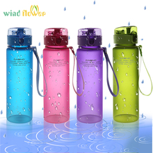 Wind flower 560ml BPA Free Leak Proof Sports Water Bottle Top Quality My Sport Bicycle Camping Hiking Drink Plastic Water Bottle(China)