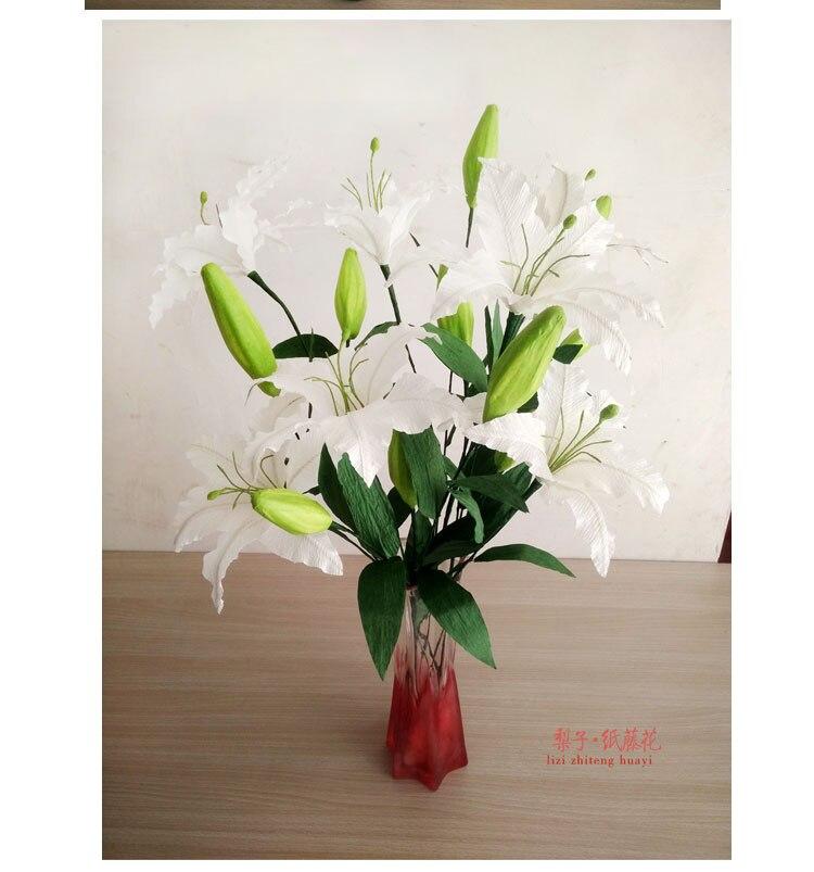 DIY креп бумага ремесло цветок лилии 15 пакета(ов) отделочные материалы горшечные подарки партии(China)