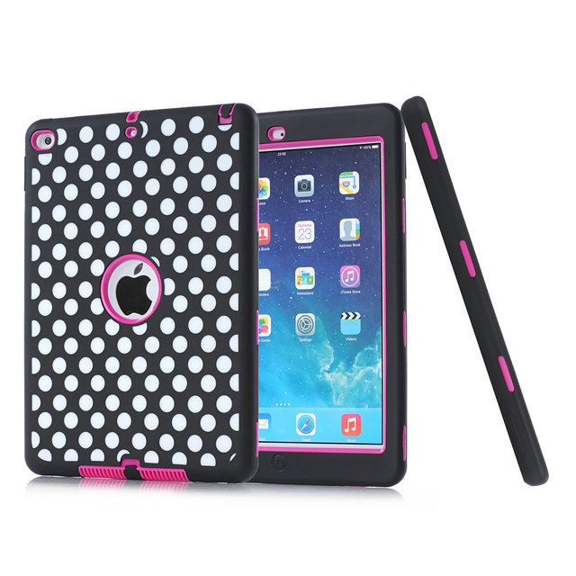 Zebra Dots Waves Shockproof Dirt Resistance For Cover Apple iPad Air 2nd Gen (2014) Case with Screen Protector Film + Stylus Pen<br><br>Aliexpress