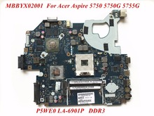 High Quality Product For Acer Aspire 5750 5750G 5755G  Laptop Motherboard P5WE0 LA-6901P MBBYX02001 DDR3 GT630M 2GB 100% Tested