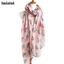 Imixlot Women's Voile Scarf Lovely Cartton Hedgehog Scarves Shawls Foulard Sjaal Cachecol Feminino Winter Accessories(China)