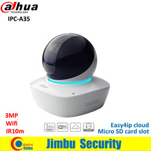 Dahua wifi IP PT Camera 3MP IPC-A35 IR10m indoor Easy4ip cloud support with Micro SD card slot up to 128GB COMS cctv camera