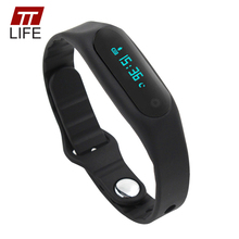 100% Original! TTLIFE 0.69 inch Touch Bluetooth 4.0 Smart Watch TPU Waterproof IP67 Smart Bracelet Watch for IOS/ Android phone