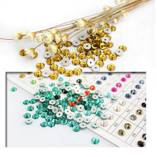 Much Color Glass Material 1440pcs Round Rhinestone Crystal 5mm Sewing stone flat back 1 hole clothing decoration accessories